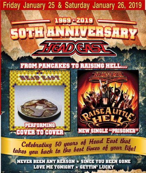 HEAD EAST -- 50th Anniversary (from Pancakes to Raising Hell)